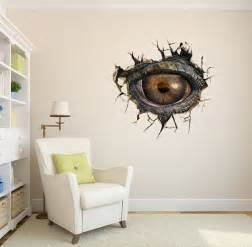 wall paint stickers dinosaur eyes 3d surreal creative painting wall