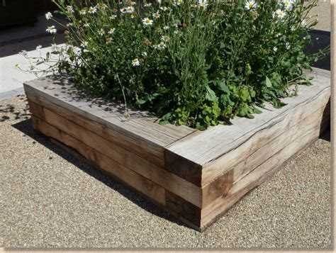 Sleeper Planters by Paving Expert Aj Mccormack Landscape Features Building With Sleepers