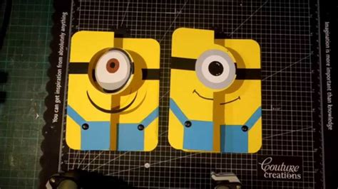 how to make a minion card minion flip card