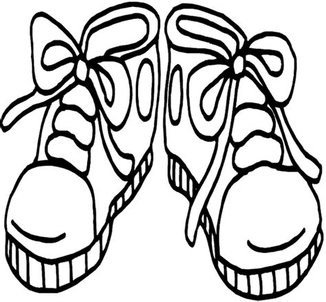 printable coloring pages shoes printable shoes clipart best