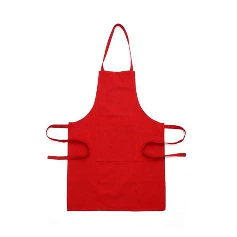 tablier cuisine personnalisé pas cher tablier avec poche uni accessoires cuisine eminza