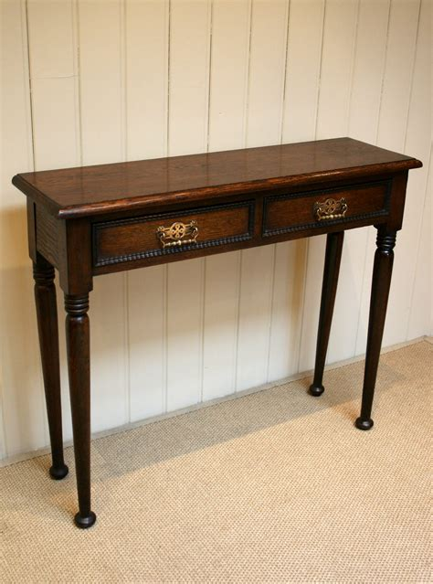 Thin Hallway Table Solid Oak Narrow Table Antiques Atlas