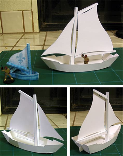 Boat Paper Craft - net paper pattern crafts