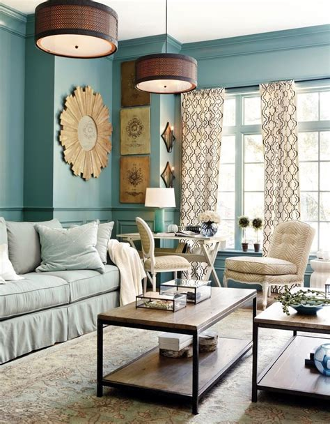 warm blue living room paint living rooms