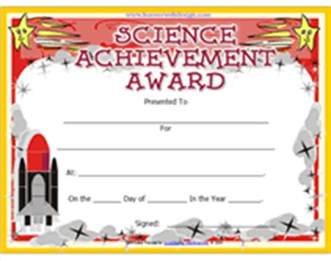 science certificate templates pin printable science awards for lights