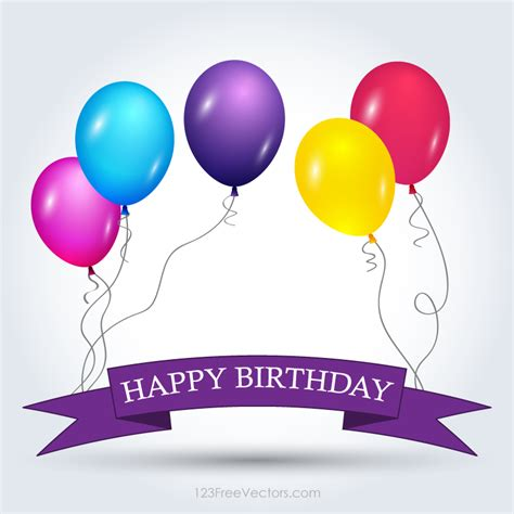 happy birthday banner template free download free vector
