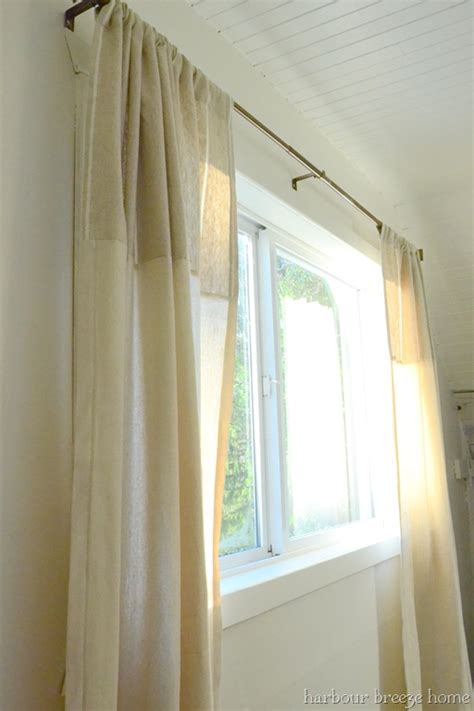 side window curtain rods dressing a window harbour home