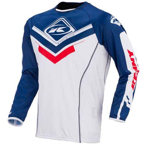 kenny motocross gear camiseta de motocross kenny titanium azul blanco rojo