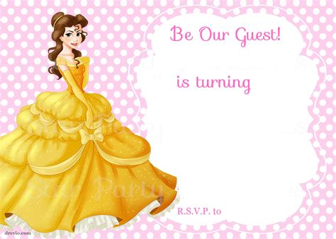 and the beast birthday card template free printable and the beast royal invitation
