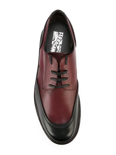 Monza Dress ferragamo monza lace up shoes in black for lyst