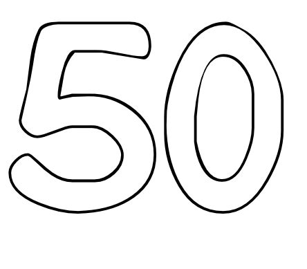 50 Coloring Page by Color By Number Printables Number 50 Color By Number Org