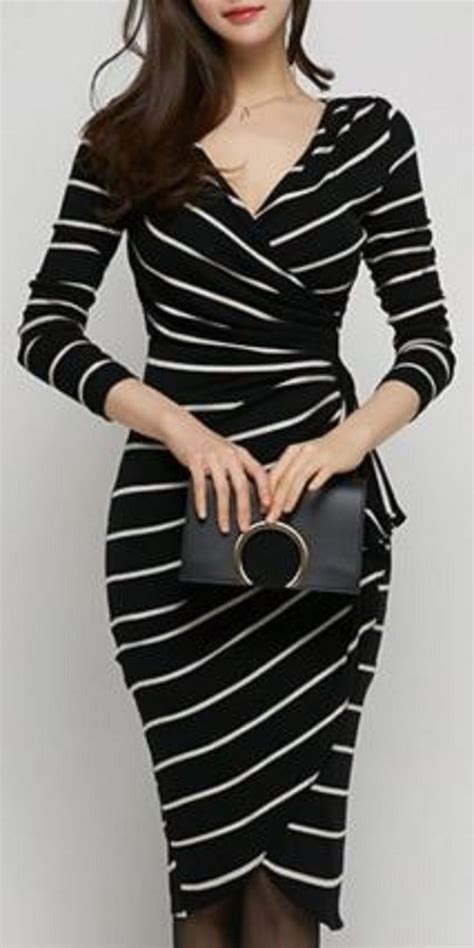 Striped Dress 70 fabulous casual black white striped midi dress