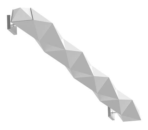 Origami Products - origami wall led or3w1 indirect aluminum 5 1 2 quot x