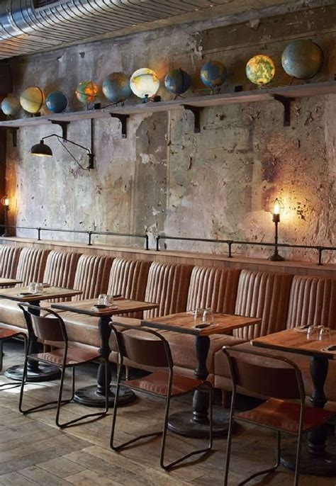 restaurant  industrial vintage style  paris