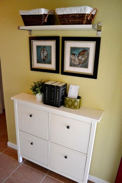 ikea entry table love this ikea shoe cabinet for a narrow entryway