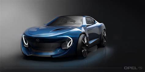 opel manta concept  rendering car body design