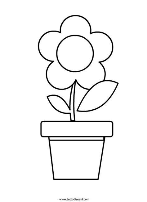 vasi di fiori da colorare fiore con vaso da colorare tuttodisegni