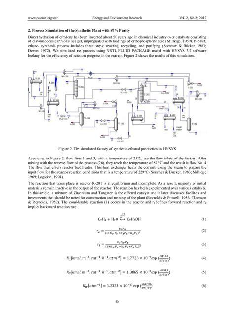 hydration of ethylene hydration of ethylen hysys