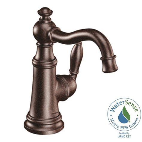 moen oil rubbed bronze bathroom faucets moen weymouth single hole 1 handle high arc bathroom