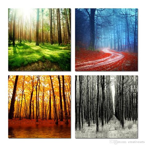 2017 trees canvas prints wall modern decor paintings
