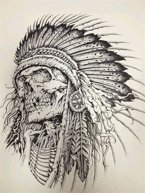indian skull tattoo designs indian skull skulls bones
