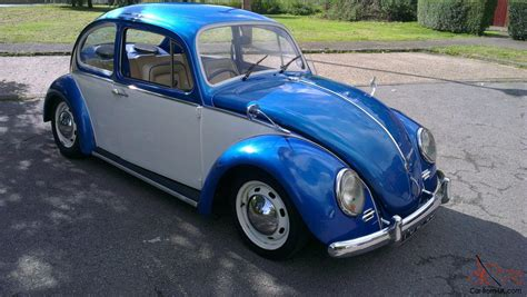 blue volkswagen beetle 1970 1970 volkswagen 1300 beetle blue white tax exempt restored