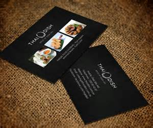 catering business card ideas business card design for thai dish by smart designs