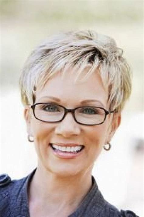 hairstyles for large glasses short gray hairstyles for women pictures gallery of