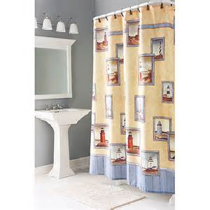 painterly lighthouse shower curtains bath walmart