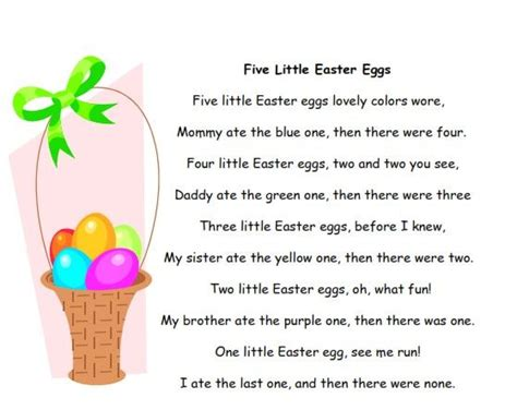 free easter speeches poems for children and easter poems songs chants for preschool and