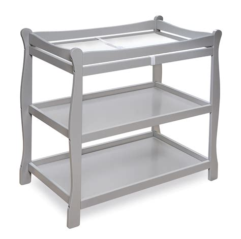 Badger Basket 22366 Sleigh Style Changing Table Gray Grey Baby Changing Table
