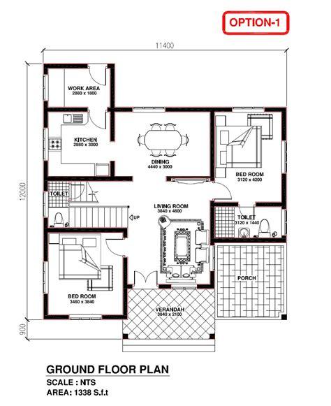 contractor house plans kerala building construction kerala model house 1338 s f t