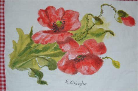 fiori da dipingere su stoffa dipingere su tessuto
