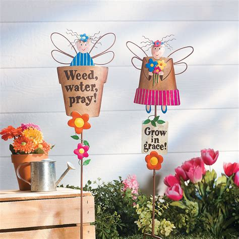 Oriental Trading Home Decor by Spring Garden Angel Yard Stakes Party Supplies Outdoor