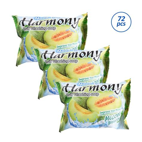 Harmony Fruity Soap Lemon 70g jual harmony fruity refreshing soap melon sabun batang 70
