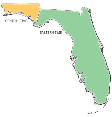 florida time zone map exploring florida map