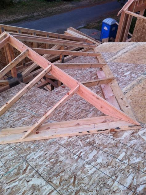 framing  cross gable roof   open great room