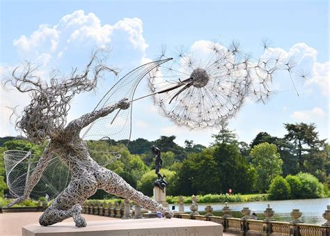 wind art dramatic stainless steel wire fairies by robin wight