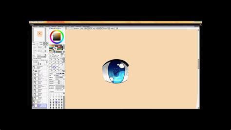 tutoriel colorier les yeux paint tool sai