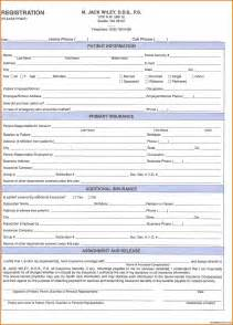 New Patient Form Template by 10 Patient Registration Form Template Plantemplate Info