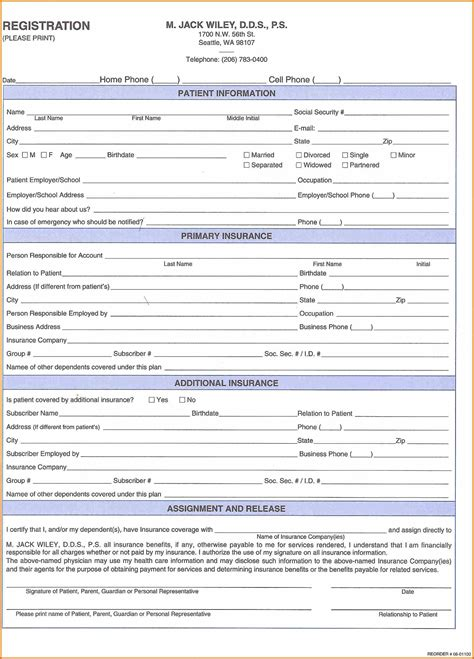patient forms template 10 patient registration form template plantemplate info