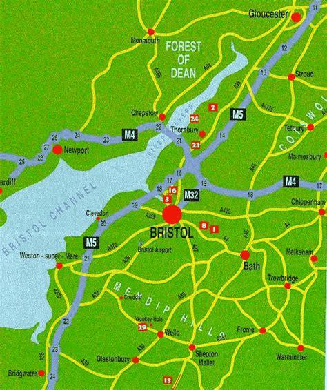 map uk bristol mapas de bristol