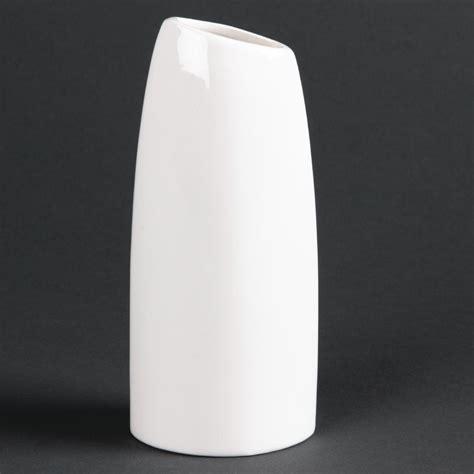 Safety Vase by Lumina China Oval Bud Vase Heathrow Catering And
