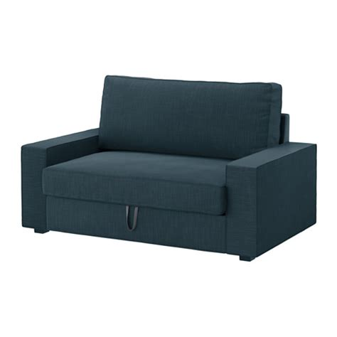 chair bed ikea vilasund two seat sofa bed hillared dark blue ikea