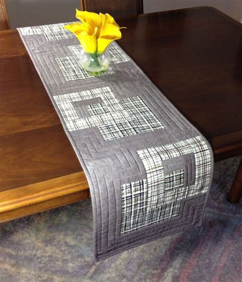 grey and white table runner 17 best ideas about table runners on burlap