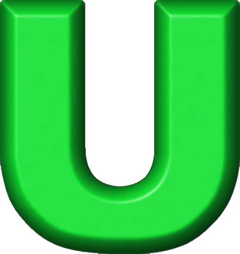 Technology At Home by Presentation Alphabets Green Refrigerator Magnet U