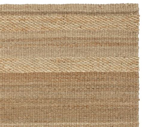 Jute Kitchen Rug Spun Jute Stripe Rug Warm Pottery Barn