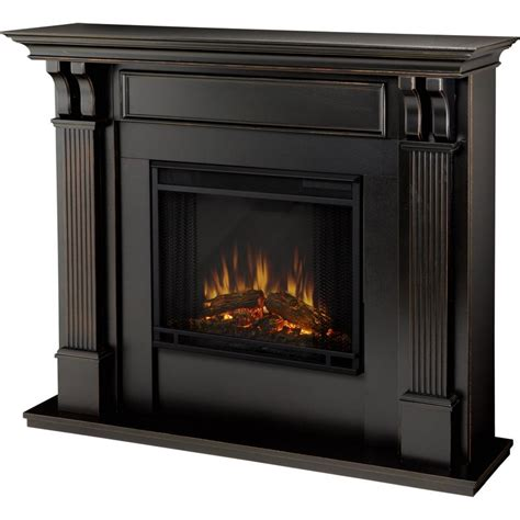 electric fireplace ventless real 7100e bw indoor ventless electric