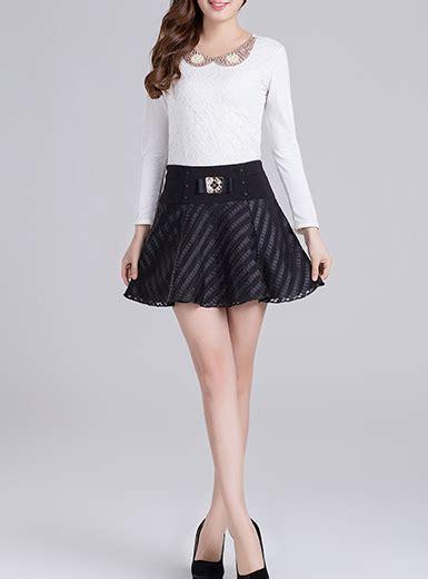womens leather skirt tonal plaid skater mini