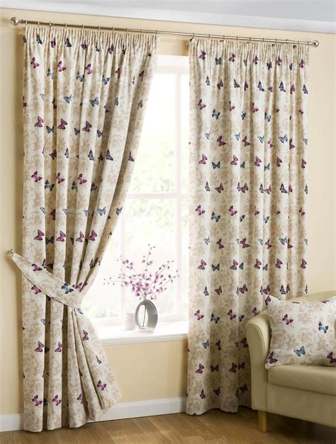 lined kitchen curtains butterfly lined curtains mauve free uk delivery terrys